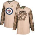 Cheap Adidas Jets #27 Nikolaj Ehlers Camo Authentic 2017 Veterans Day Stitched Youth NHL Jersey