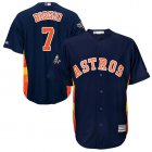 Cheap Astros #7 Craig Biggio Navy Blue New Cool Base 2019 World Series Bound Stitched MLB Jersey