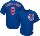 Cheap Cubs #6 Nicholas Castellanos Blue New Cool Base Stitched MLB Jersey