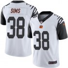 Cheap Nike Bengals #38 LeShaun Sims White Youth Stitched NFL Limited Rush Jersey