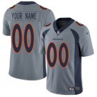 Cheap Nike Denver Broncos Customized Gray Men's Stitched NFL Limited Inverted Legend Jersey