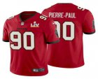 Cheap Men's Tampa Bay Buccaneers #90 Jason Pierre-Paul Red 2021 Super Bowl LV Limited Stitched NFL Jersey