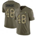 Cheap Nike Cardinals #48 Isaiah Simmons Olive/Camo Youth Stitched NFL Limited 2017 Salute To Service Jersey