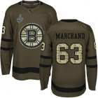 Cheap Adidas Bruins #63 Brad Marchand Green Salute to Service Stanley Cup Final Bound Youth Stitched NHL Jersey