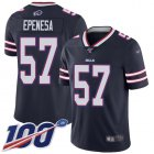Cheap Nike Bills #57 A.J. Epenesas Navy Men's Stitched NFL Limited Inverted Legend 100th Season Jersey