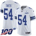 Cheap Nike Cowboys #54 Jaylon Smith White Men's Stitched With Established In 1960 Patch NFL 100th Season Vapor Untouchable Limited Jersey