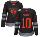 Cheap Team North America #10 J. T. Miller Black 2016 World Cup Women's Stitched NHL Jersey