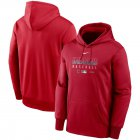 Cheap Men's Cleveland Indians Nike Red Authentic Collection Therma Performance Pullover Hoodie