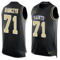 Cheap Nike Saints #71 Ryan Ramczyk Black Team Color Men's Stitched NFL Limited Tank Top Jersey