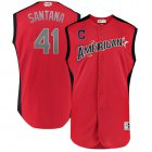 Cheap Indians #41 Carlos Santana Red 2019 All-Star American League Stitched MLB Jersey