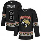 Cheap Adidas Panthers #6 Anton Stralman Black Authentic Team Logo Fashion Stitched NHL Jersey