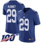 Cheap Nike Giants #29 Xavier McKinney Royal Blue Team Color Youth Stitched NFL 100th Season Vapor Untouchable Limited Jersey