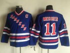 Cheap Rangers #11 Mark Messier Blue CCM Throwback Stitched Youth NHL Jersey