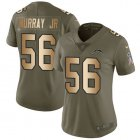 Cheap Nike Chargers #56 Kenneth Murray Jr Olive/Gold Women's Stitched NFL Limited 2017 Salute To Service Jersey