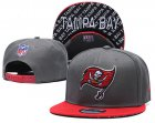 Cheap Buccaneers Team Logo Gray Red Adjustable Hat TX