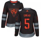 Cheap Team North America #5 Aaron Ekblad Black 2016 World Cup Women's Stitched NHL Jersey