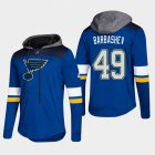 Cheap Blues #49 Ivan Barbashev Blue 2018 Pullover Platinum Hoodie