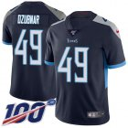 Cheap Nike Titans #49 Nick Dzubnar Navy Blue Team Color Youth Stitched NFL 100th Season Vapor Untouchable Limited Jersey