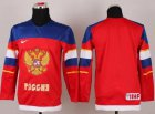 Cheap 2014 Olympic Team Russia Blank Red Stitched Youth NHL Jersey