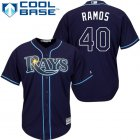 Cheap Rays #40 Wilson Ramos Dark Blue Cool Base Stitched Youth MLB Jersey