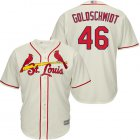 Cheap Cardinals #46 Paul Goldschmidt Cream Cool Base Stitched Youth MLB Jersey