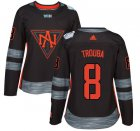 Cheap Team North America #8 Jacob Trouba Black 2016 World Cup Women's Stitched NHL Jersey