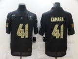 Cheap Men's New Orleans Saints #41 Alvin Kamara Black Camo 2020 Salute To Service Stitched NFL Nike Limited Jersey
