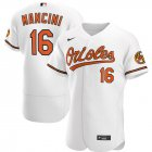 Cheap Baltimore Orioles #16 Trey Mancini Men's Nike White Home 2020 Authentic Player MLB Jersey