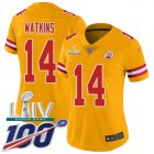 Cheap Nike Chiefs #14 Sammy Watkins Olive Women's Stitched NFL Limited 2017 Salute to Service Jersey