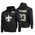 Cheap New Orleans Saints #23 Marshon Lattimore Nike NFL 100 Primary Logo Circuit Name & Number Pullover Hoodie Black
