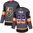 Cheap Adidas Golden Knights #89 Alex Tuch Grey Home Authentic USA Flag Stitched Youth NHL Jersey