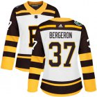 Cheap Adidas Bruins #37 Patrice Bergeron White Authentic 2019 Winter Classic Women's Stitched NHL Jersey