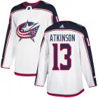 Cheap Adidas Blue Jackets #13 Cam Atkinson White Road Authentic Stitched Youth NHL Jersey