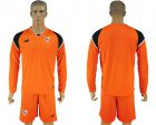 Cheap Sevilla Blank Orange Goalkeeper Long Sleeves Soccer Club Jersey