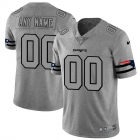 Cheap New England Patriots Custom Men's Nike Gray Gridiron II Vapor Untouchable Limited NFL Jersey