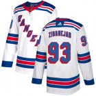 Cheap Adidas Rangers #93 Mika Zibanejad White Road Authentic Stitched Youth NHL Jersey