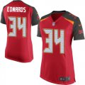 Cheap Nike Buccaneers #34 Mike Edwards Red Team Color Women's Stitched NFL New Elite Jersey