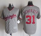 Cheap Nationals #31 Max Scherzer Grey New Cool Base Stitched MLB Jersey