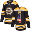 Cheap Adidas Bruins #4 Bobby Orr Black Home Authentic USA Flag Youth Stitched NHL Jersey