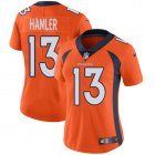 Cheap Nike Broncos #13 KJ Hamler Orange Team Color Women's Stitched NFL Vapor Untouchable Limited Jersey