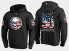 Cheap Sabres #90 Ryan O'reilly NHL Banner Wave Usa Flag Black Hoodie