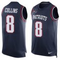 Cheap Nike Patriots #8 Jamie Collins Sr Navy Blue Team Color Men's Stitched NFL Limited Tank Top Jersey