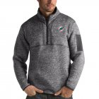 Cheap Miami Dolphins Antigua Fortune Quarter-Zip Pullover Jacket Charcoal