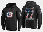 Cheap Bruins #77 Ray Bourque NHL Banner Wave Usa Flag Black Hoodie