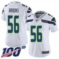 Cheap Nike Seahawks #56 Jordyn Brooks White Women's Stitched NFL 100th Season Vapor Untouchable Limited Jersey