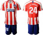 Cheap Atletico Madrid #24 J.M.Gimenez Home Soccer Club Jersey