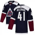 Cheap Adidas Avalanche #41 Pierre-Edouard Bellemare Navy Alternate Authentic Stitched NHL Jersey