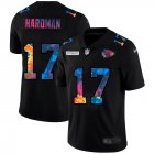 Cheap Kansas City Chiefs #17 Mecole Hardman Men's Nike Multi-Color Black 2020 NFL Crucial Catch Vapor Untouchable Limited Jersey