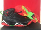 Cheap Air Jordan 7 marvin the martian Shoes Black/Red-White-Green