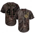 Cheap Indians #41 Carlos Santana Camo Realtree Collection Cool Base Stitched MLB Jersey